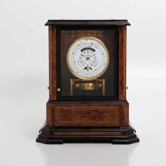 """JAEGER LE COULTRE table clock """"Atmos du Millenaire Marqueterie 'Crepuscule'"""", with 1000 year calendar and moon phase. - photo 1"""