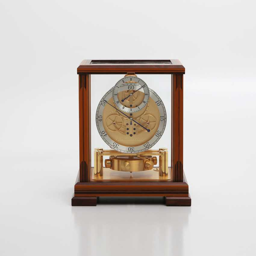 """JAEGER LE COULTRE table clock """"Atmos Regulator"""". High quality wood case with inlays, - photo 1"""