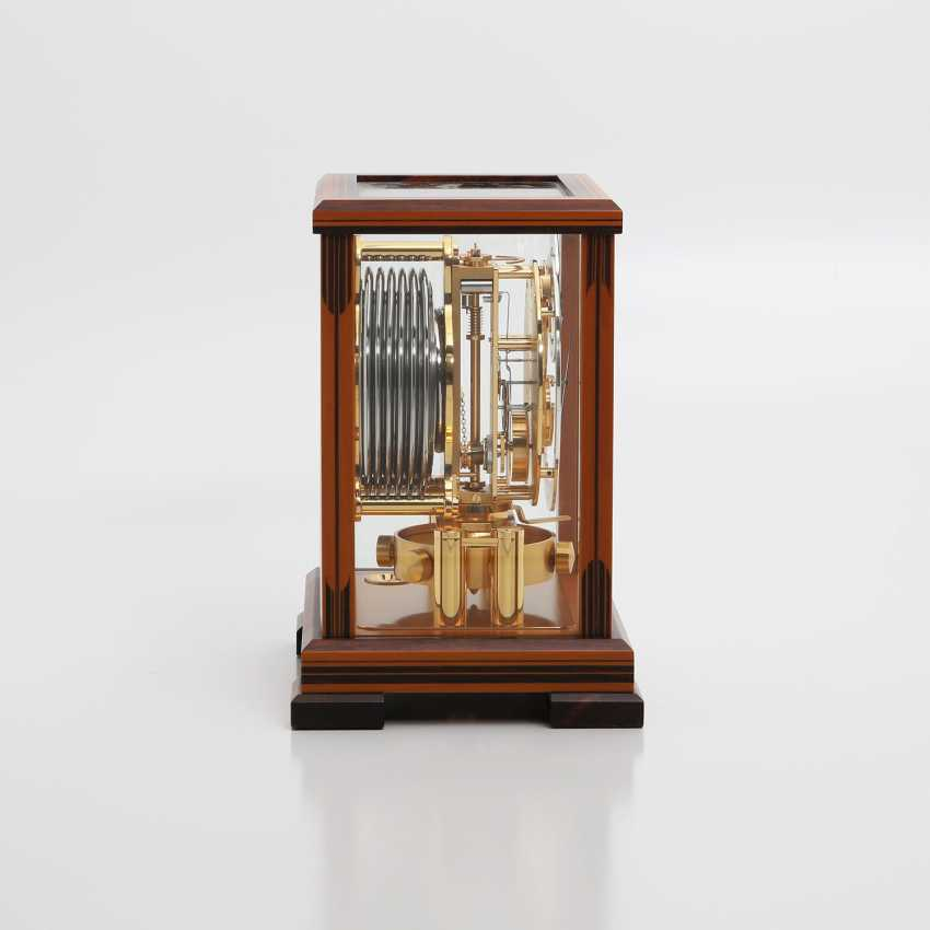 """JAEGER LE COULTRE table clock """"Atmos Regulator"""". High quality wood case with inlays, - photo 2"""