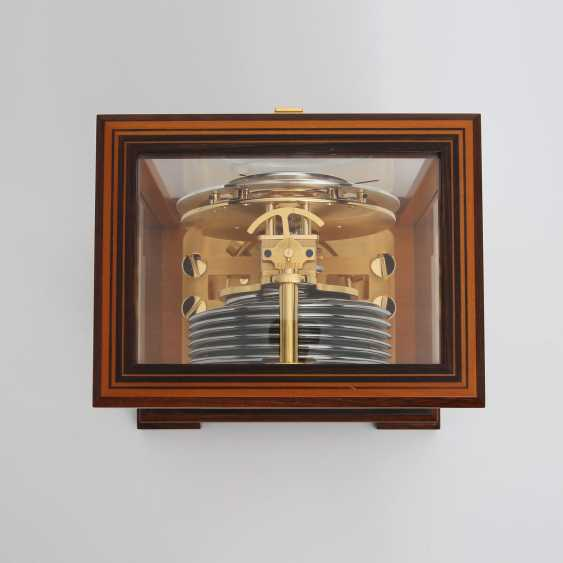 """JAEGER LE COULTRE table clock """"Atmos Regulator"""". High quality wood case with inlays, - photo 3"""