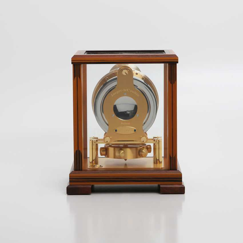 """JAEGER LE COULTRE table clock """"Atmos Regulator"""". High quality wood case with inlays, - photo 4"""