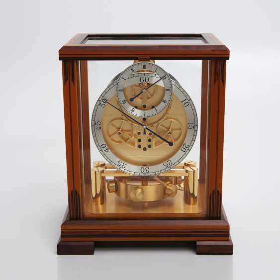 """JAEGER LE COULTRE table clock """"Atmos Regulator"""". High quality wood case with inlays, - photo 5"""