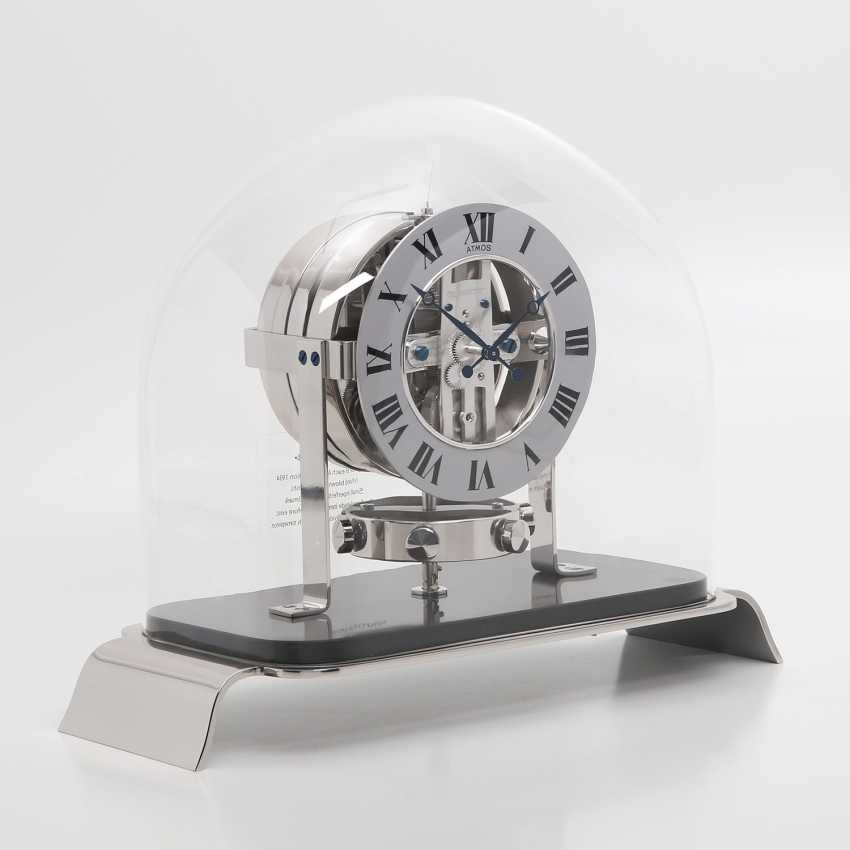 """JAEGER LE COULTRE table clock """"Atmos Reedition 1934"""". Housing rhodium plated/polished - photo 1"""