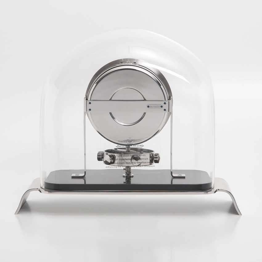 """JAEGER LE COULTRE table clock """"Atmos Reedition 1934"""". Housing rhodium plated/polished - photo 2"""
