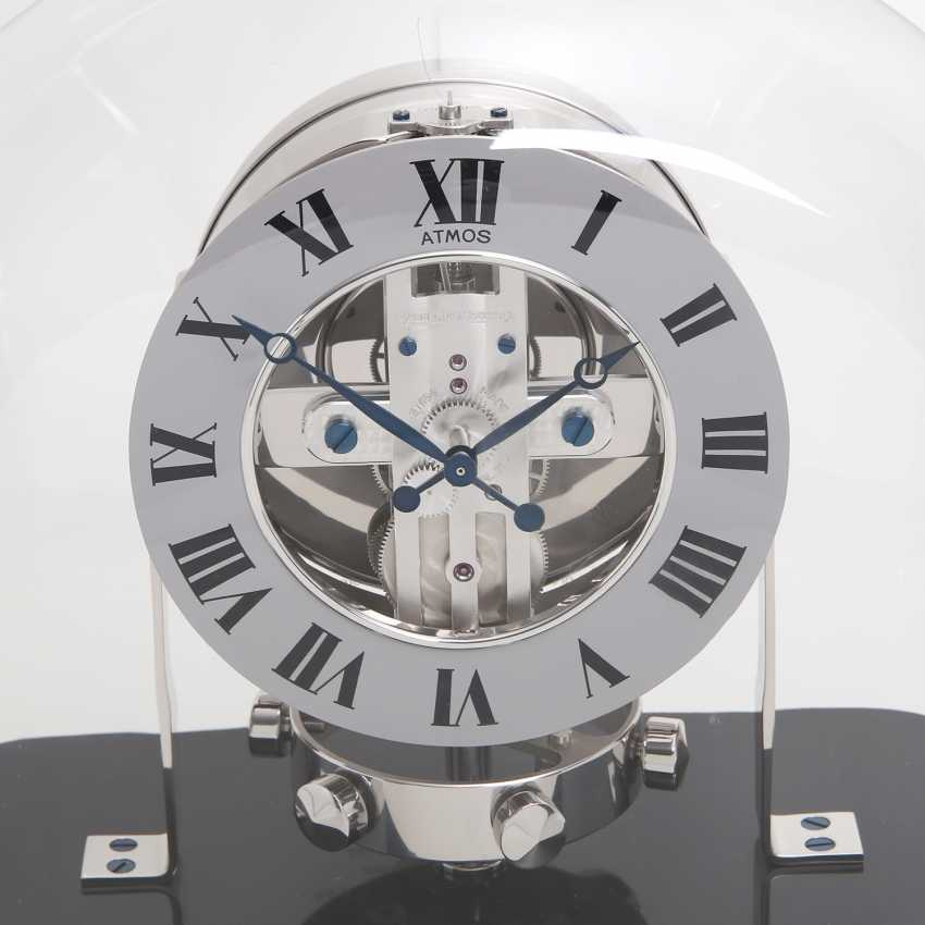 """JAEGER LE COULTRE table clock """"Atmos Reedition 1934"""". Housing rhodium plated/polished - photo 4"""