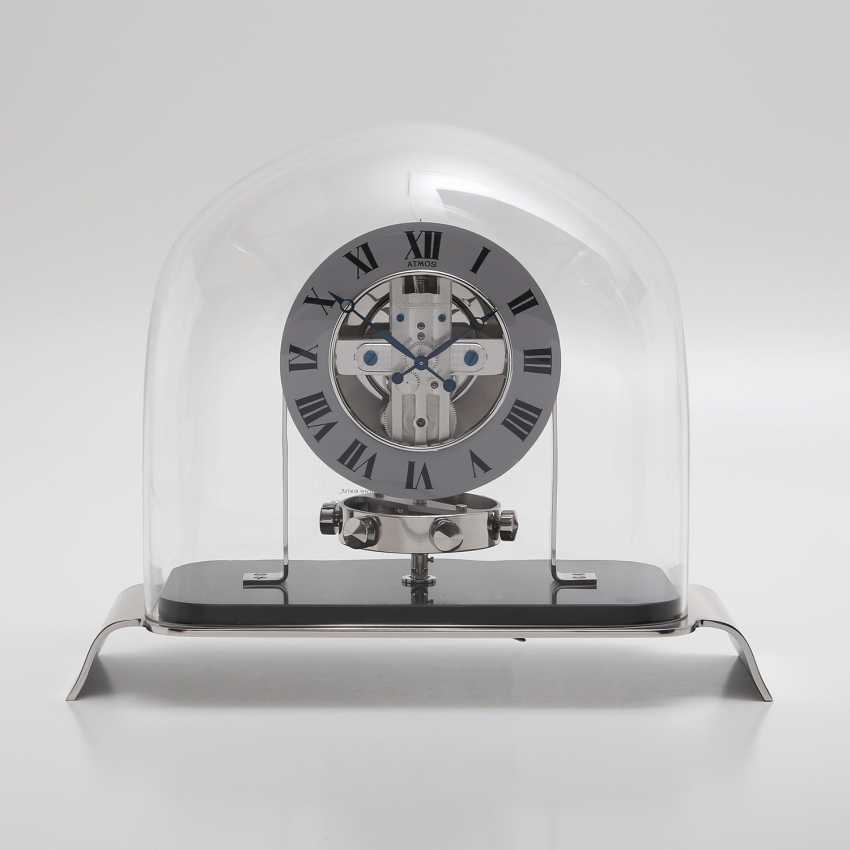 """JAEGER LE COULTRE table clock """"Atmos Reedition 1934"""". Housing rhodium plated/polished - photo 5"""