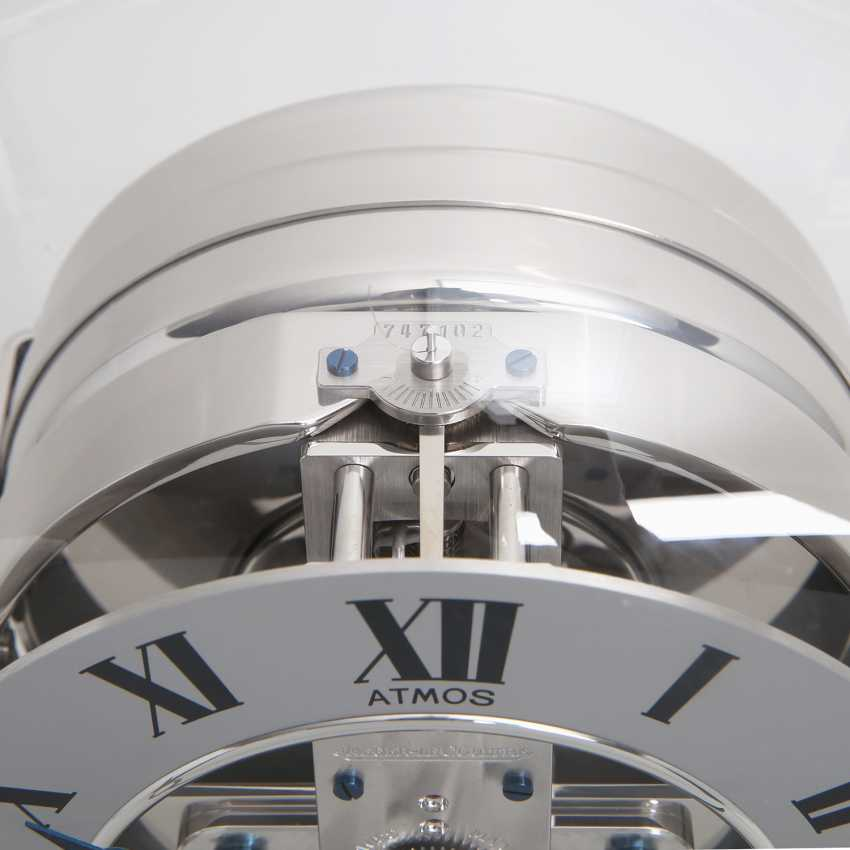 """JAEGER LE COULTRE table clock """"Atmos Reedition 1934"""". Housing rhodium plated/polished - photo 6"""