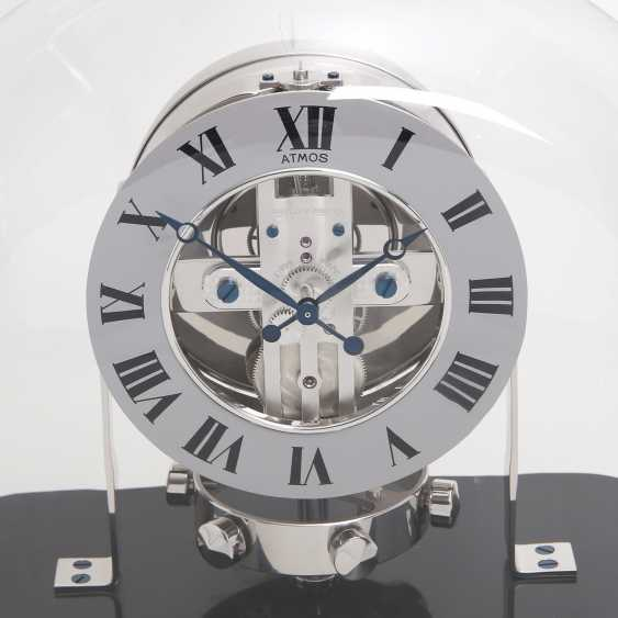 """JAEGER LE COULTRE table clock """"Atmos Reedition 1934"""". Housing rhodium plated/polished - photo 7"""