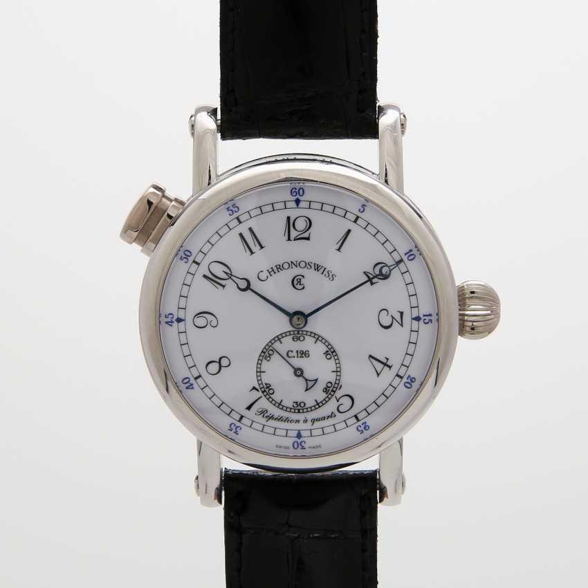 "CHRONOSWISS men's watch ""Repetition à Quarts"". Housing made of platinum. - photo 5"