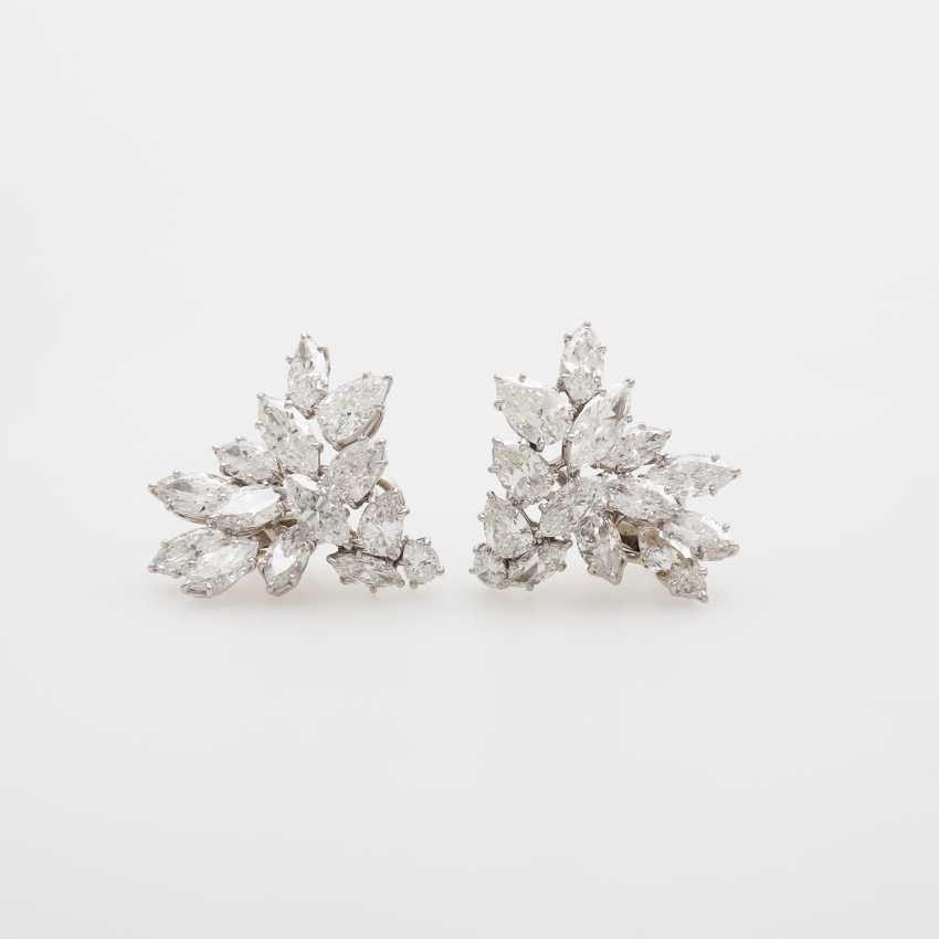 Dispositif De Boucles D'Oreilles, Navette Diamants, - photo 1
