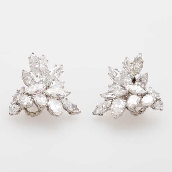 Dispositif De Boucles D'Oreilles, Navette Diamants, - photo 3