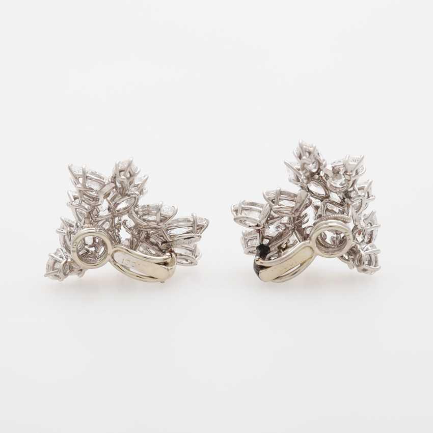 Dispositif De Boucles D'Oreilles, Navette Diamants, - photo 4