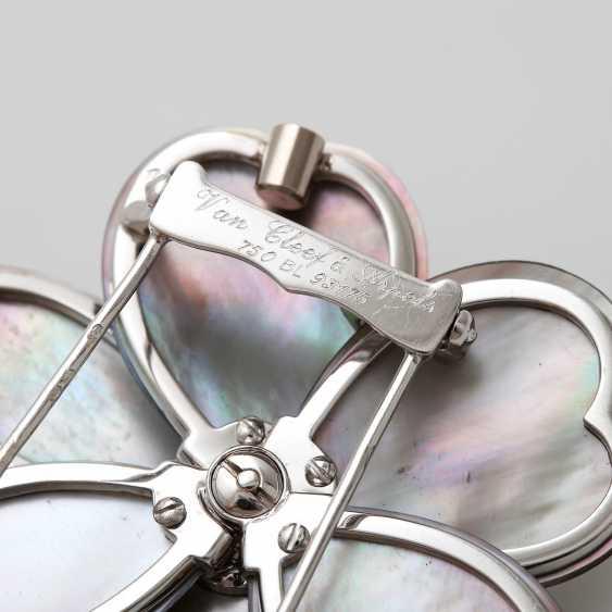 "VAN CLEEF & ARPELS brooch / removable buckle ""Rose de Noël"" - photo 4"