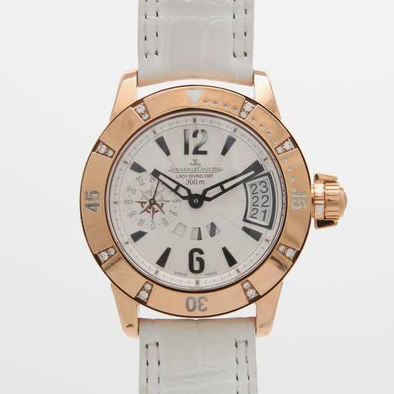 "JAEGER LE COULTRE Armbanduhr ""Lady Diving GMT Master Compressor"". Rosé-Gold 18K - photo 1"