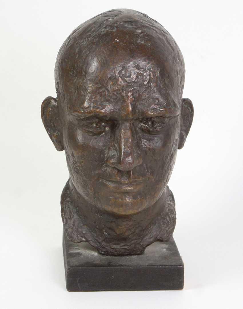 Bronze Bust Of Ernst Thälmann - photo 2