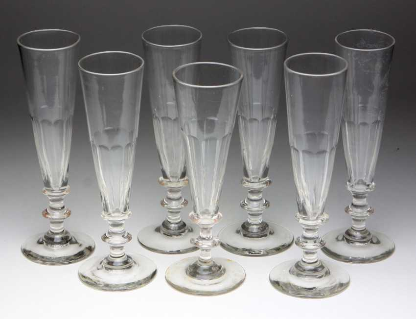 Set of champagne flutes from around 1900 - photo 1