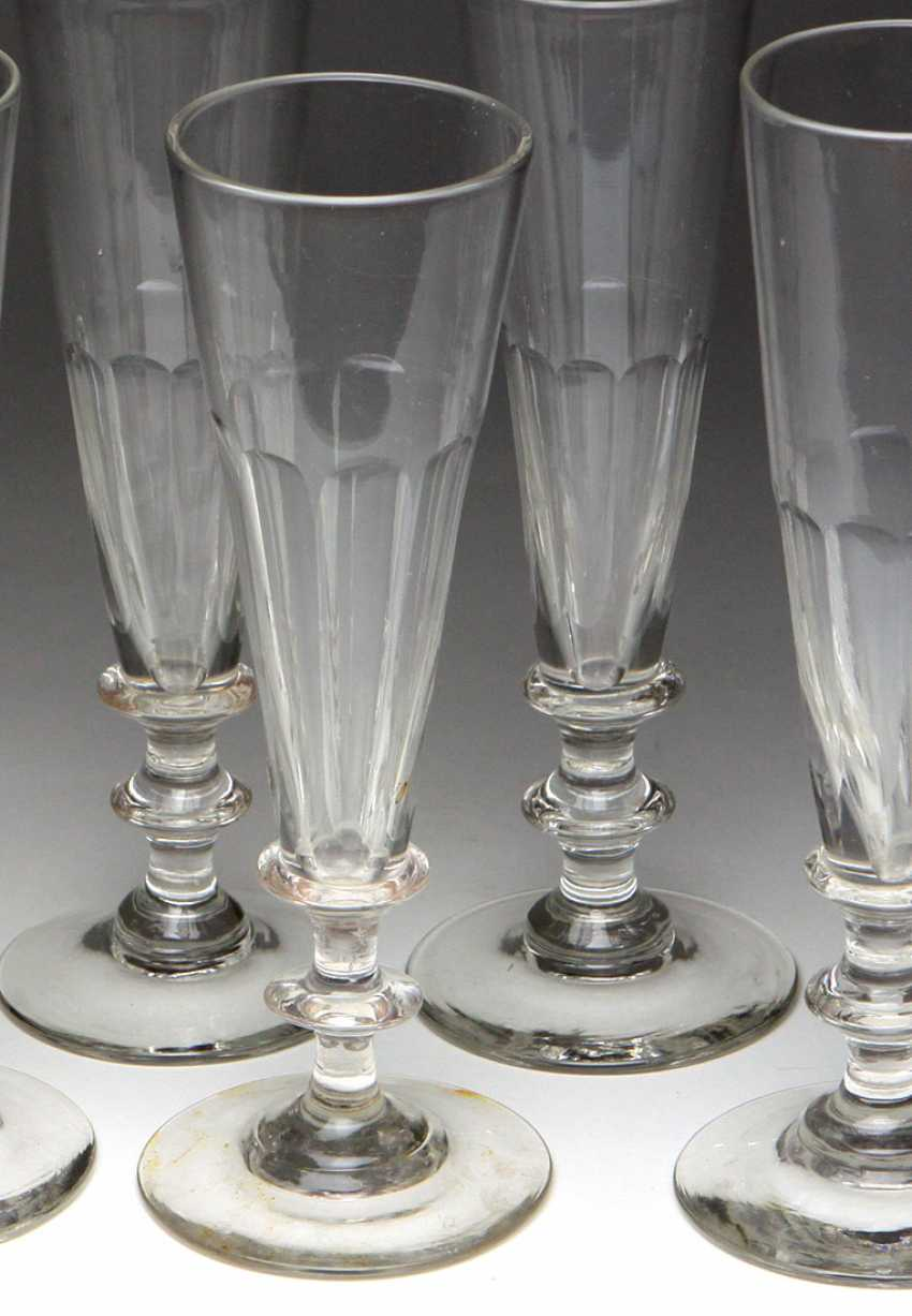 Set of champagne flutes from around 1900 - photo 2