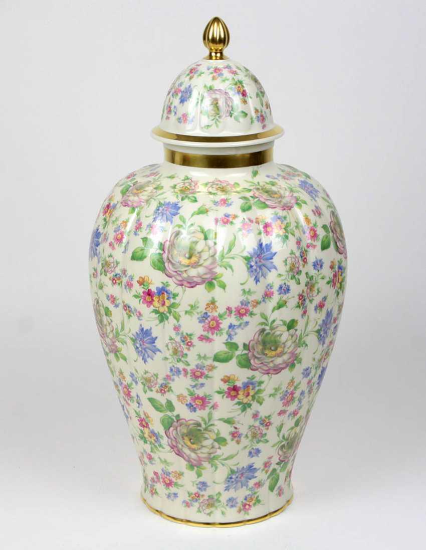 large Art Deco lidded vase 1930s - photo 1