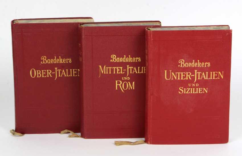 3 Volumes Baedeker Italy - photo 1