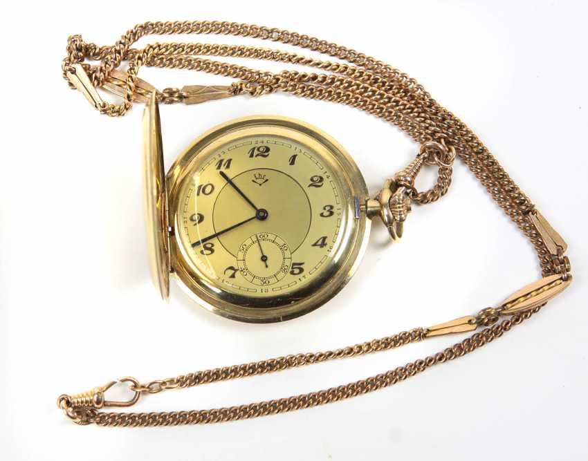 Карманные часы Savonette *Фронтальный погрузчик* цепной - фото 1