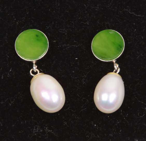 "PEARL Opal Agate Jade Collier 19/"""