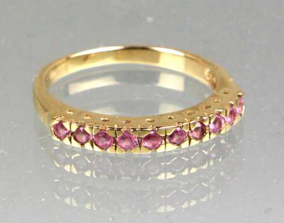 Ceylon Saphir Ring - Gelbgold 375 - photo 1