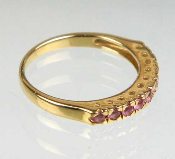 Ceylon Saphir Ring - Gelbgold 375 - photo 2