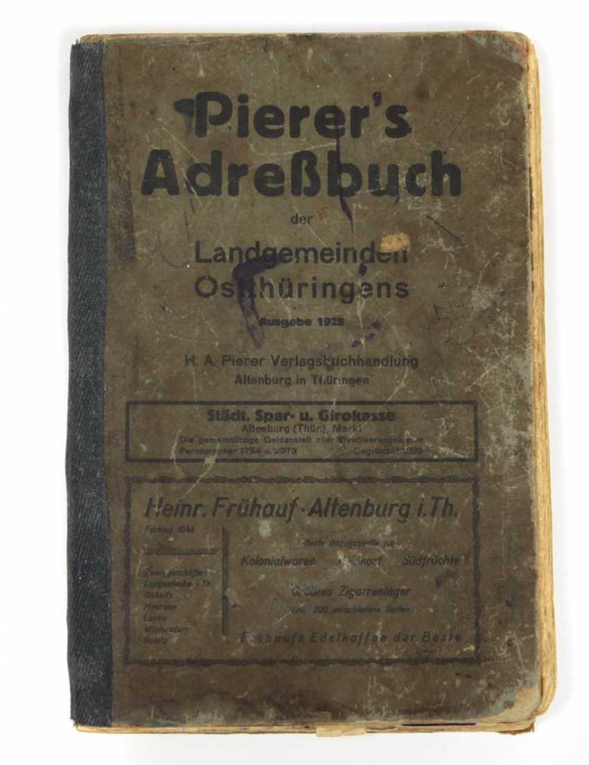 Pierer's address book of municipalities and communities ostthürin gene - photo 1