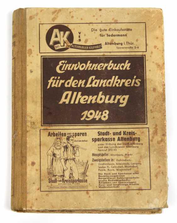 Inhabitants Book Altenburg 1948 - photo 1