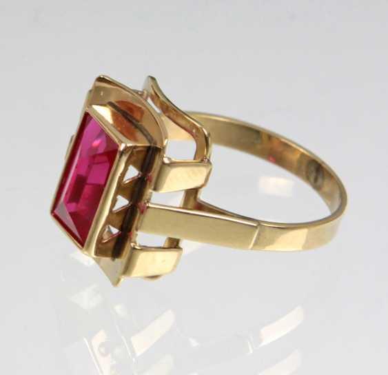 Rubin Ring - Gelbgold 333 - photo 1