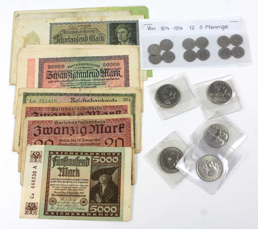 Banknotes and small coins 1874/1983 - photo 1