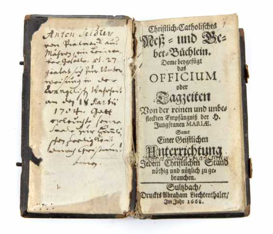 Catholic. Prayer book 1668 - photo 1