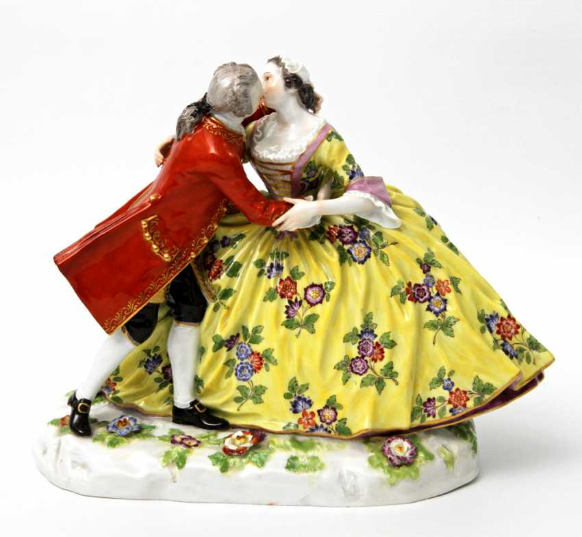 MEISSEN outstanding figure group, late 19th century. Century., 1. Choice