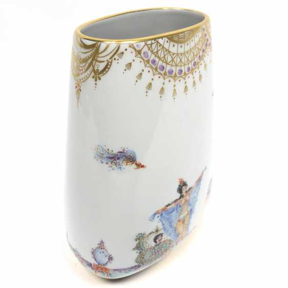 Large Vase / fireplace vase: Meissen porcelain 1001 Arabian nights, gold plated, gold ornaments, Prof. H. Werner, very good. - photo 3