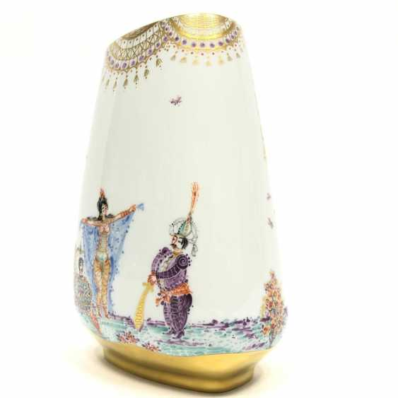 Large Vase / fireplace vase: Meissen porcelain 1001 Arabian nights, gold plated, gold ornaments, Prof. H. Werner, very good. - photo 5