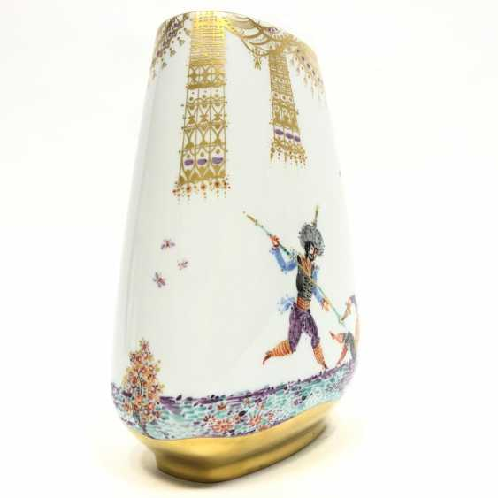 Large Vase / fireplace vase: Meissen porcelain 1001 Arabian nights, gold plated, gold ornaments, Prof. H. Werner, very good. - photo 6
