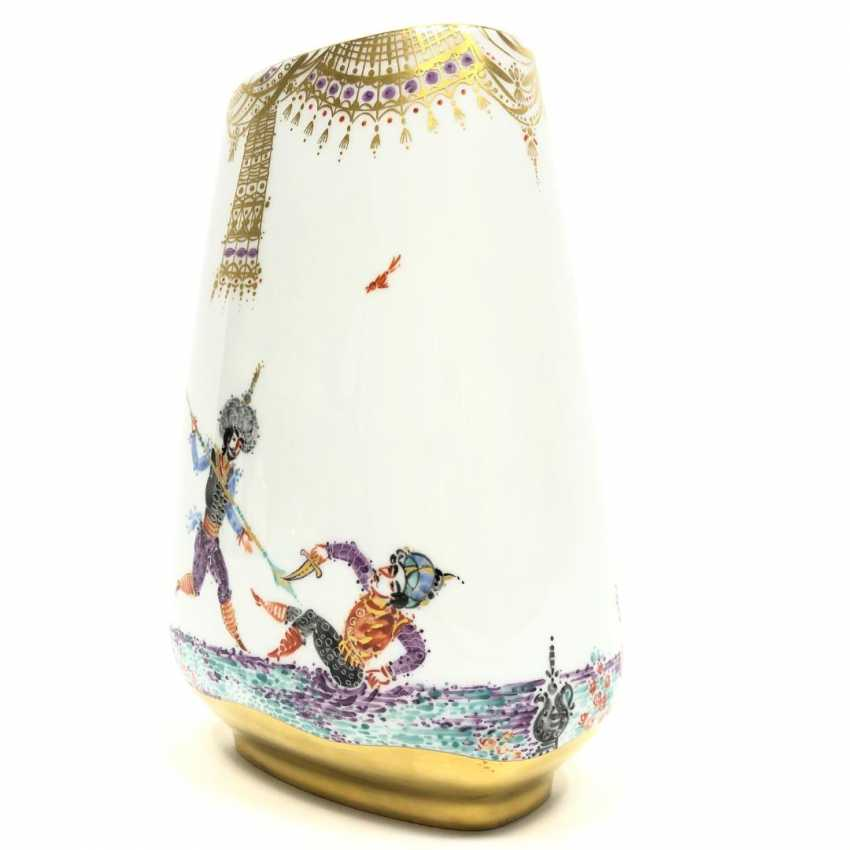 Large Vase / fireplace vase: Meissen porcelain 1001 Arabian nights, gold plated, gold ornaments, Prof. H. Werner, very good. - photo 8