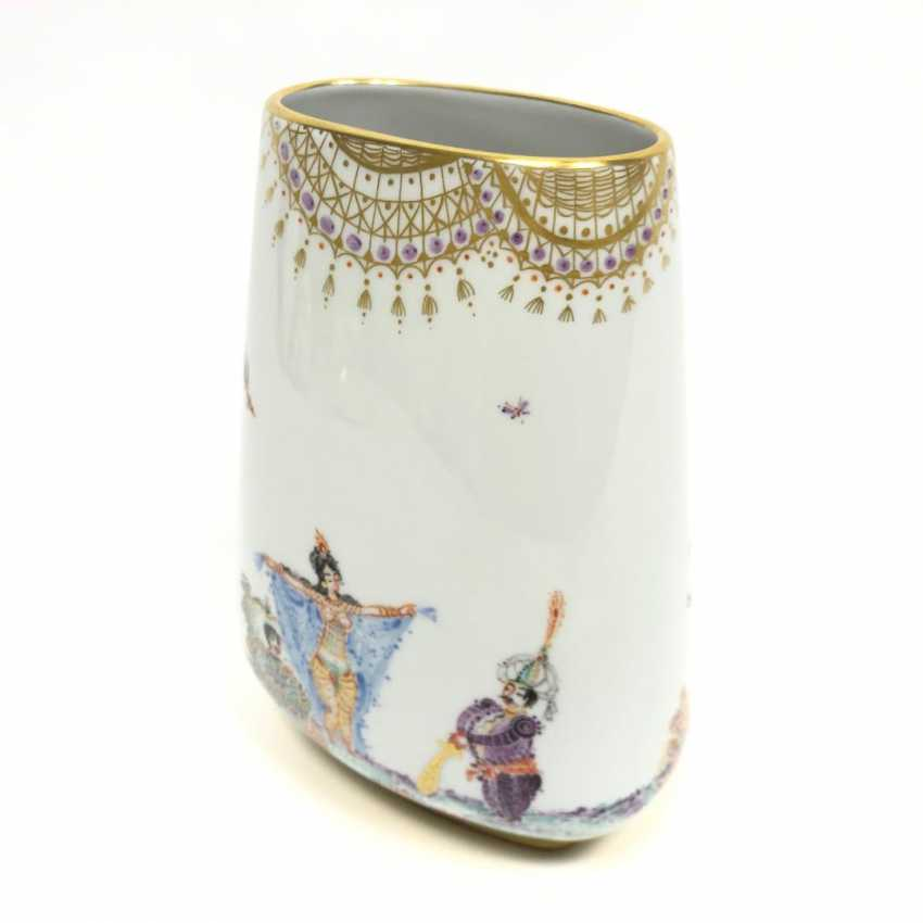 Large Vase / fireplace vase: Meissen porcelain 1001 Arabian nights, gold plated, gold ornaments, Prof. H. Werner, very good. - photo 9