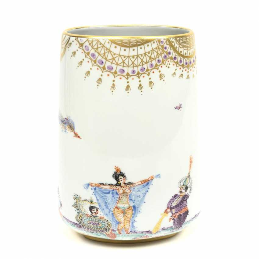 Large Vase / fireplace vase: Meissen porcelain 1001 Arabian nights, gold plated, gold ornaments, Prof. H. Werner, very good. - photo 10