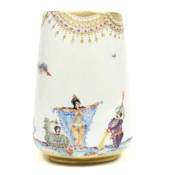 Large Vase / fireplace vase: Meissen porcelain 1001 Arabian nights, gold plated, gold ornaments, Prof. H. Werner, very good. - photo 11