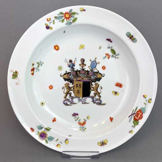 Museum plate with the coat of arms of the SEYDEWITZ / plate from the SEYDEWITZ Service. Meissen porcelain to 1732. - photo 1
