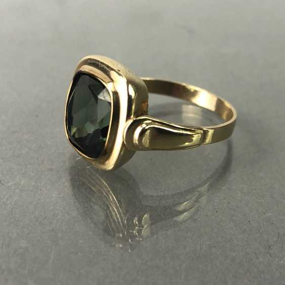 Ladies ring with spinel. Yellow gold 333. - photo 1