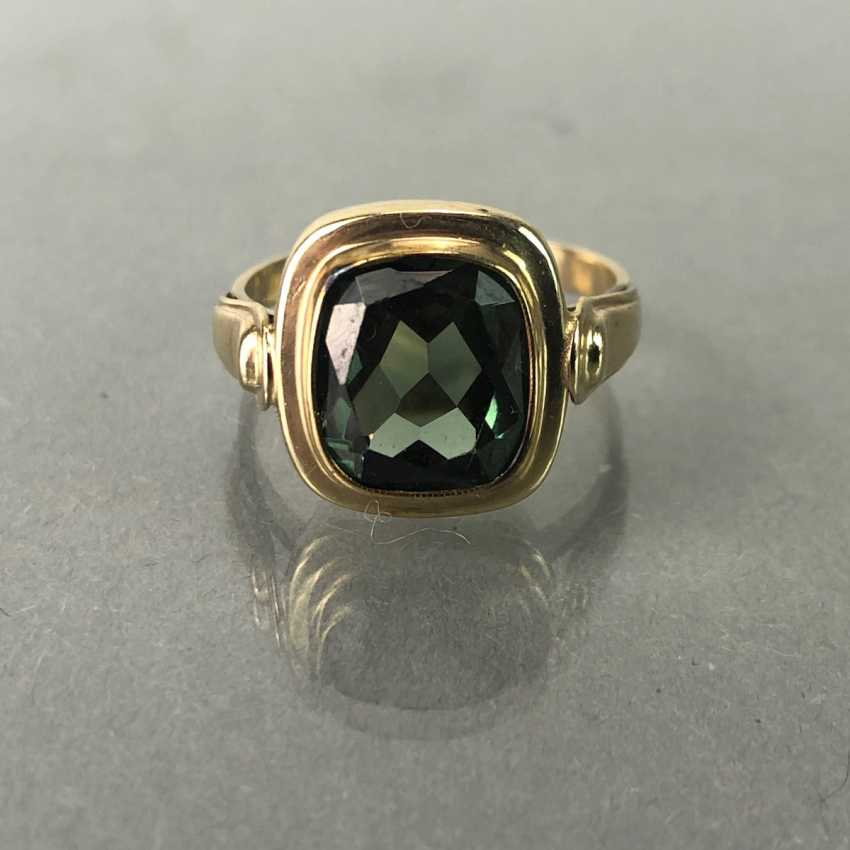 Ladies ring with spinel. Yellow gold 333. - photo 2