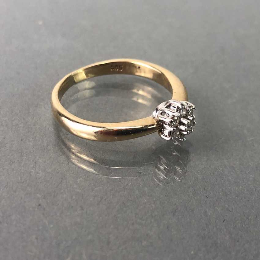 "Ladies ring with brilliants, ""CHRISTIAN"", Gold 585. Sterling silver ring. - photo 4"