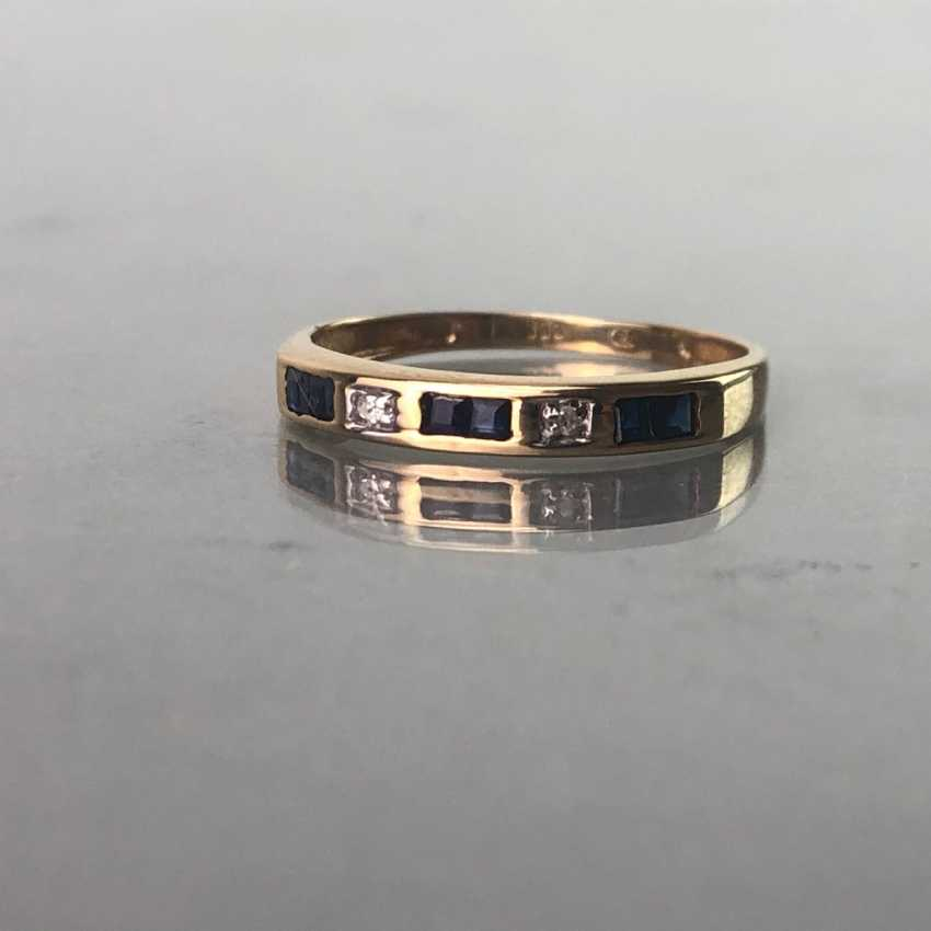 Ladies ring with Safiren, and brilliant, Gold. - photo 1