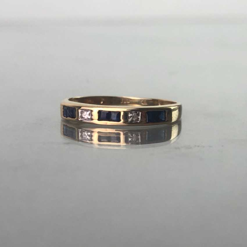 Ladies ring with Safiren, and brilliant, Gold. - photo 2