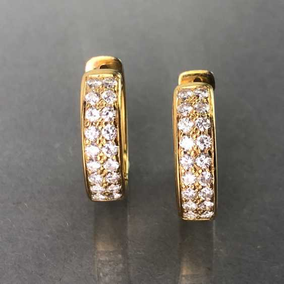 Stud Earrings Brilliant. 1,1 carat. Yellow gold 750 / 18 K mint condition, very good. - photo 3