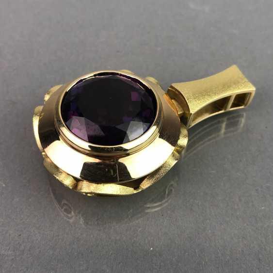 Außergewöhnliches Schmuckset: Armband, Anhänger, Ring und Ohrhänger. Gelbgold 585, Alexandrit. 150 Karat! - Foto 3