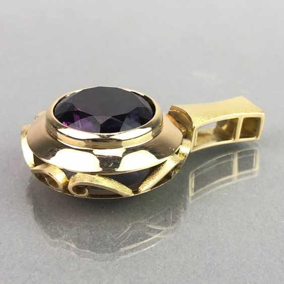 Außergewöhnliches Schmuckset: Armband, Anhänger, Ring und Ohrhänger. Gelbgold 585, Alexandrit. 150 Karat! - Foto 4