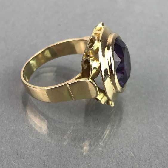 Außergewöhnliches Schmuckset: Armband, Anhänger, Ring und Ohrhänger. Gelbgold 585, Alexandrit. 150 Karat! - Foto 7